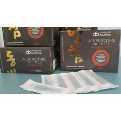 Igły akupunkturowe sylikonowane z prowadnicą Dong Bang 0,25 x 60mm  100 szt