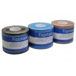 Kinesiology tape 5cm x 5m zestaw 3 szt. beżowy, czarny, niebieski