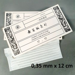 IGŁY AKUPUNKTUROWE POSREBRZANE Z PROWADNICĄ 0,35 mm x 12 cm